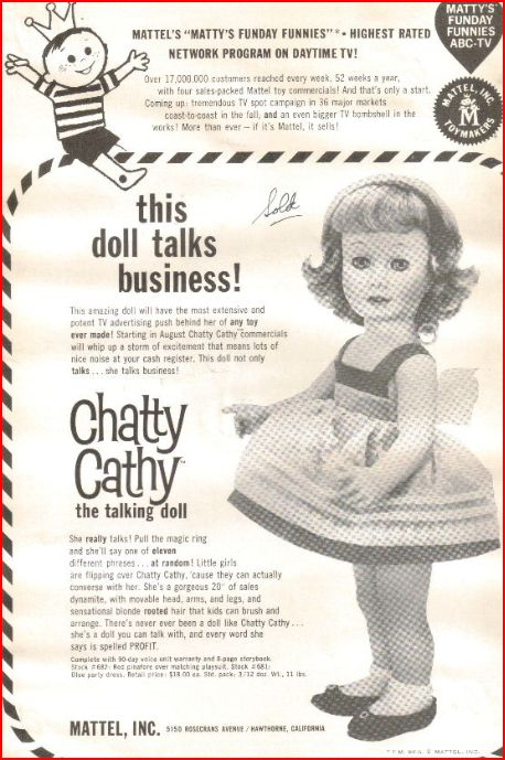 By Brand, Company, Character Mattel Chatty Cathy Voice Box Repair Consumers First